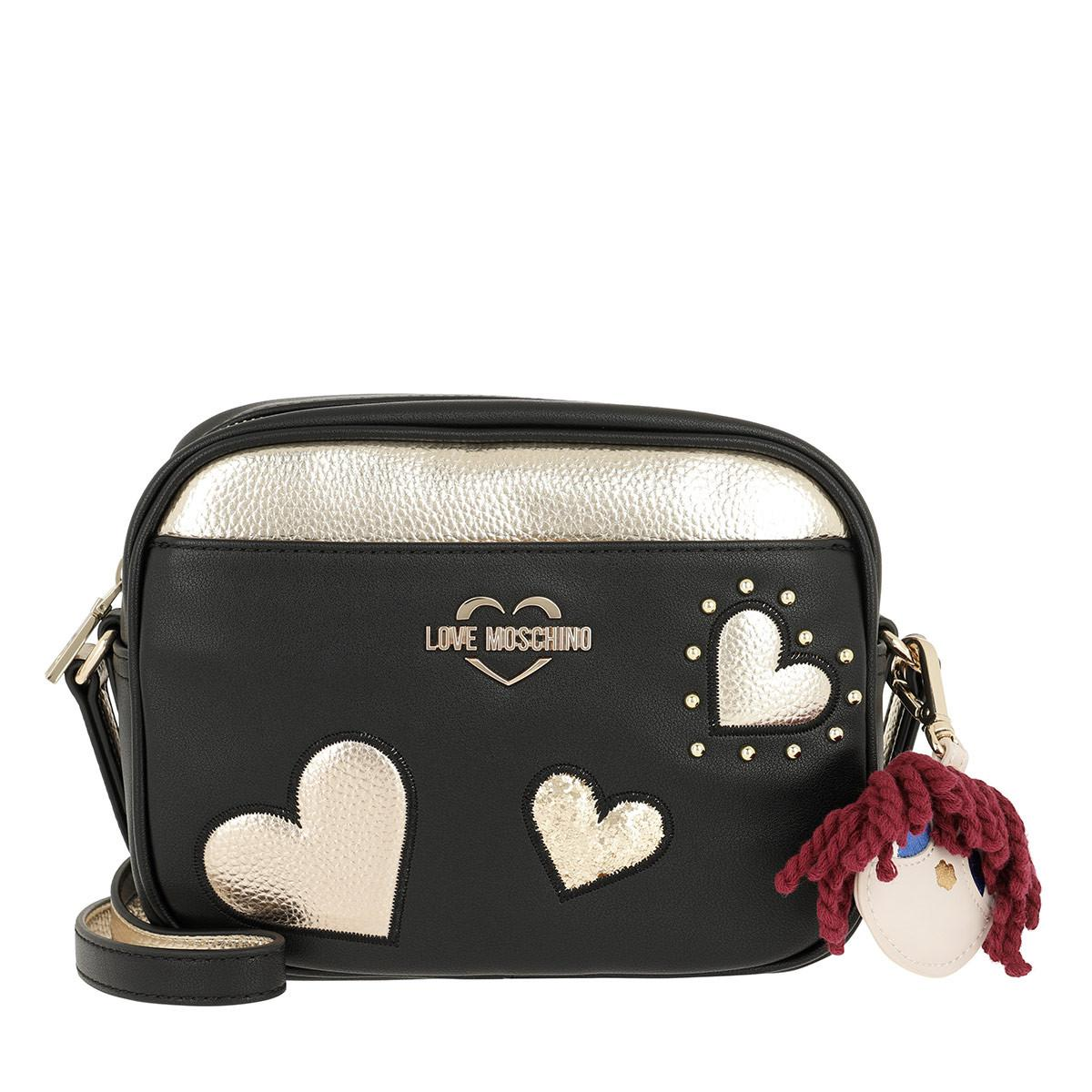 e03e4e31df Damentaschen LOVE MOSCHINO Black Grained Cross Body Bag