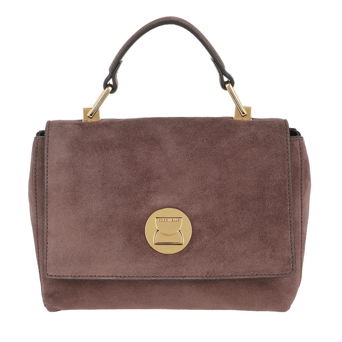 Coccinelle Satchel Bags - Liya Suede Handbag Marron Glace - - Satchel Bags for ladies Comfortable Cheap Price bfnq2YfA9X