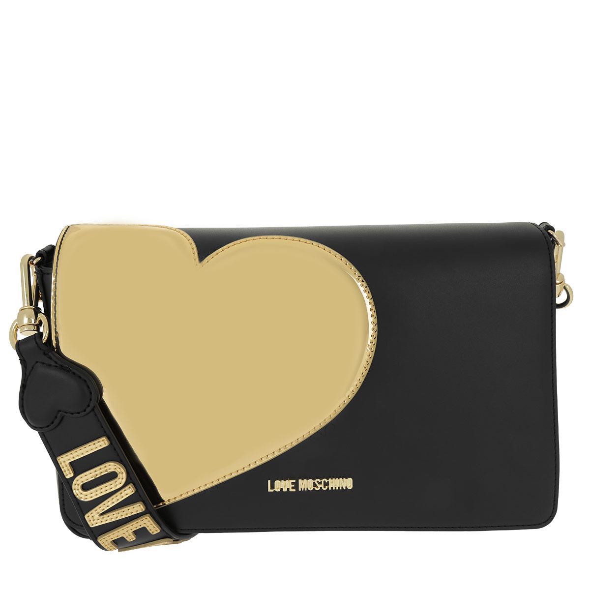 9ea5fe4627 Love Moschino Borsa Calf Pu Nero/oro in Black - Lyst