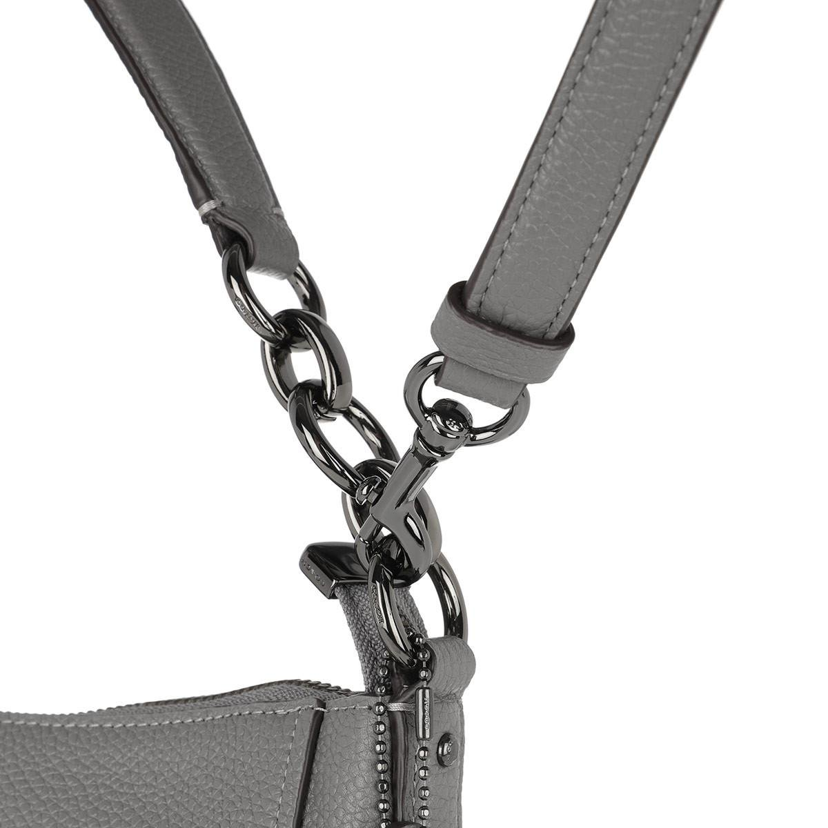 d27b5bb3ac COACH Polished Pebbled Leather Chelsea 32 Hobo Bag Heather Grey in ...