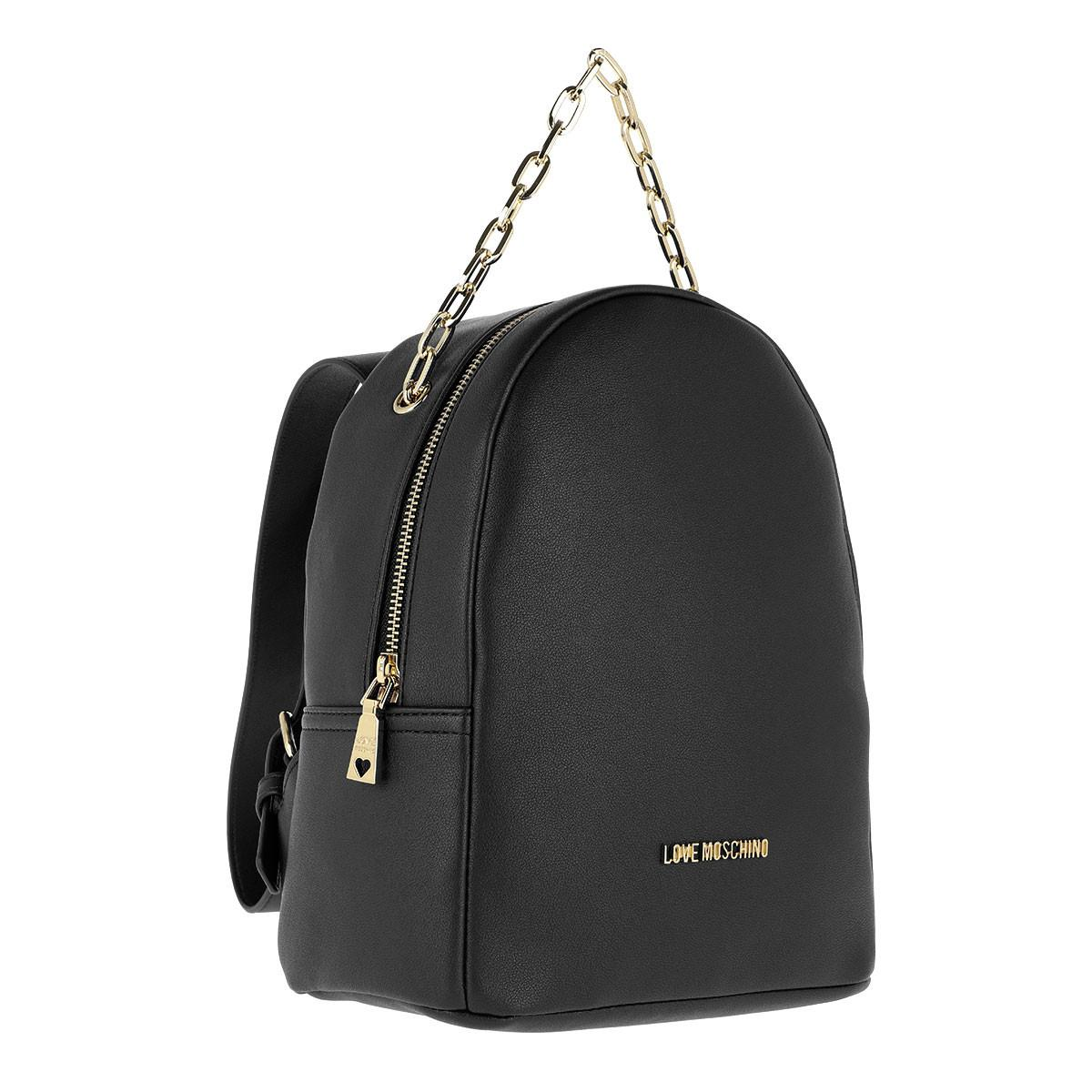 47ca9d40bf Love Moschino Smooth Pu Backpack Nero in Black - Lyst