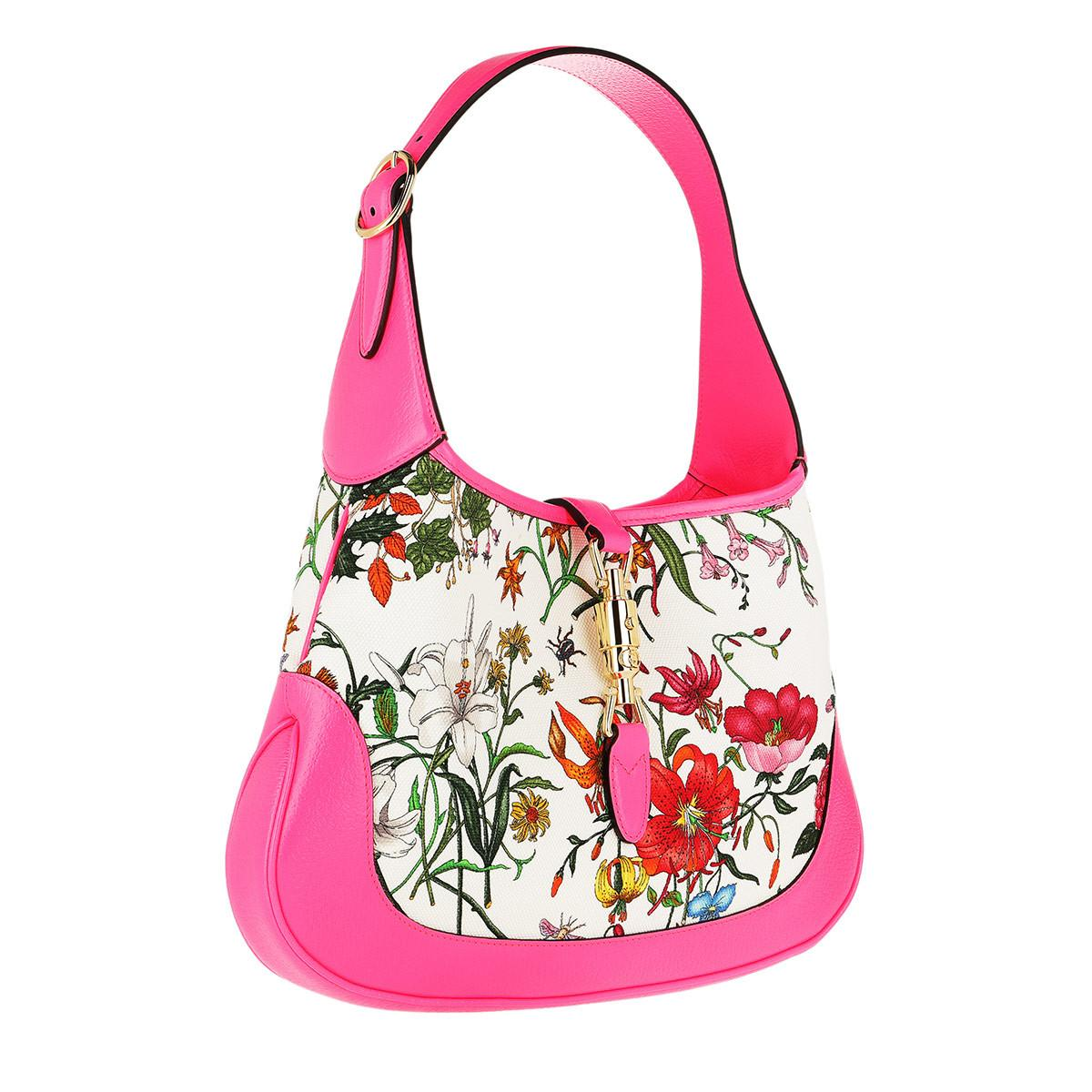 be2945b8781 Gucci Jackie Medium Flora Hobo Bag in Pink - Save 8% - Lyst