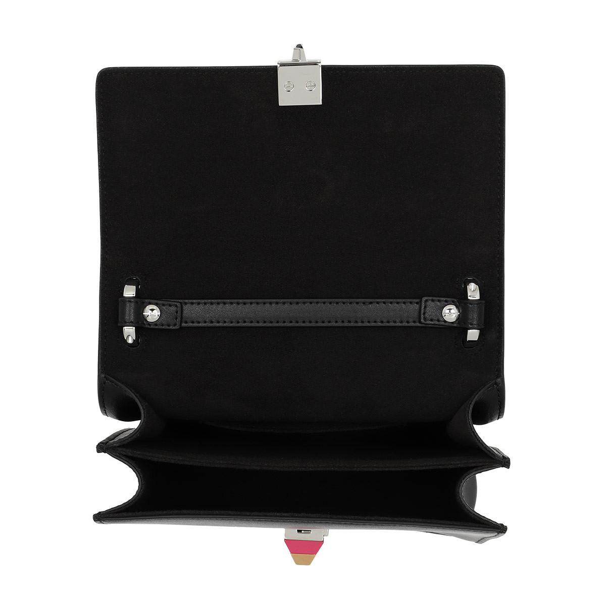 0b26fa058e10 Fendi Kan I Small Shoulder Bag Nero Multicolor in Black - Lyst