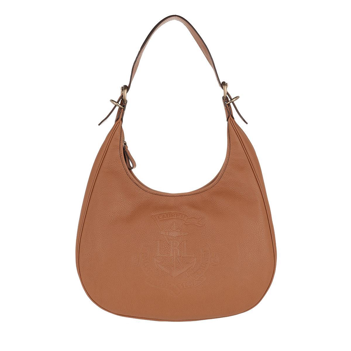 bd11de76bb47 Lauren by Ralph Lauren. Women s Brown Soft Leather Hobo Bag Medium ...