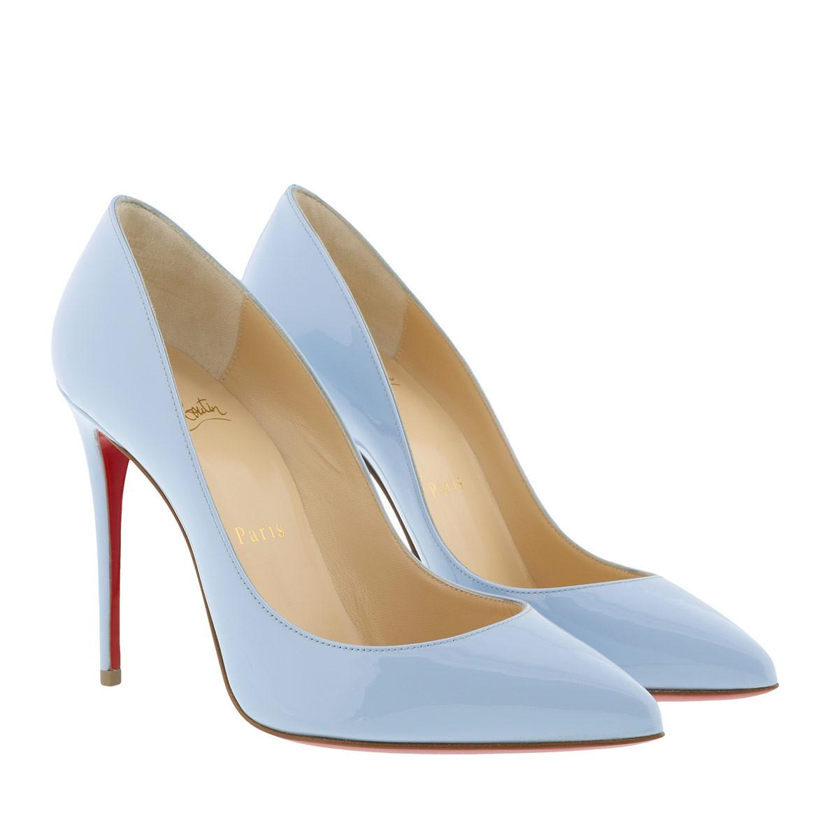388b27464859 Christian Louboutin Pigalle Follies 100 Patent Pump Sky in Blue - Lyst