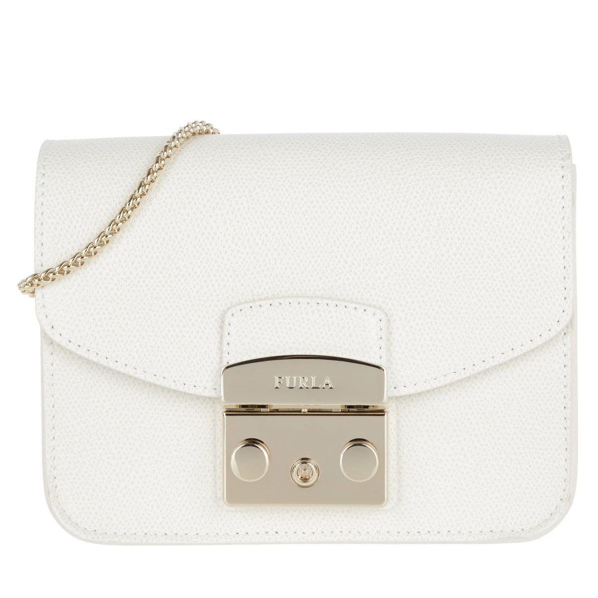 a5effd65f1 Furla - White Metropolis Mini Crossbody Bag Petalo - Lyst. View fullscreen