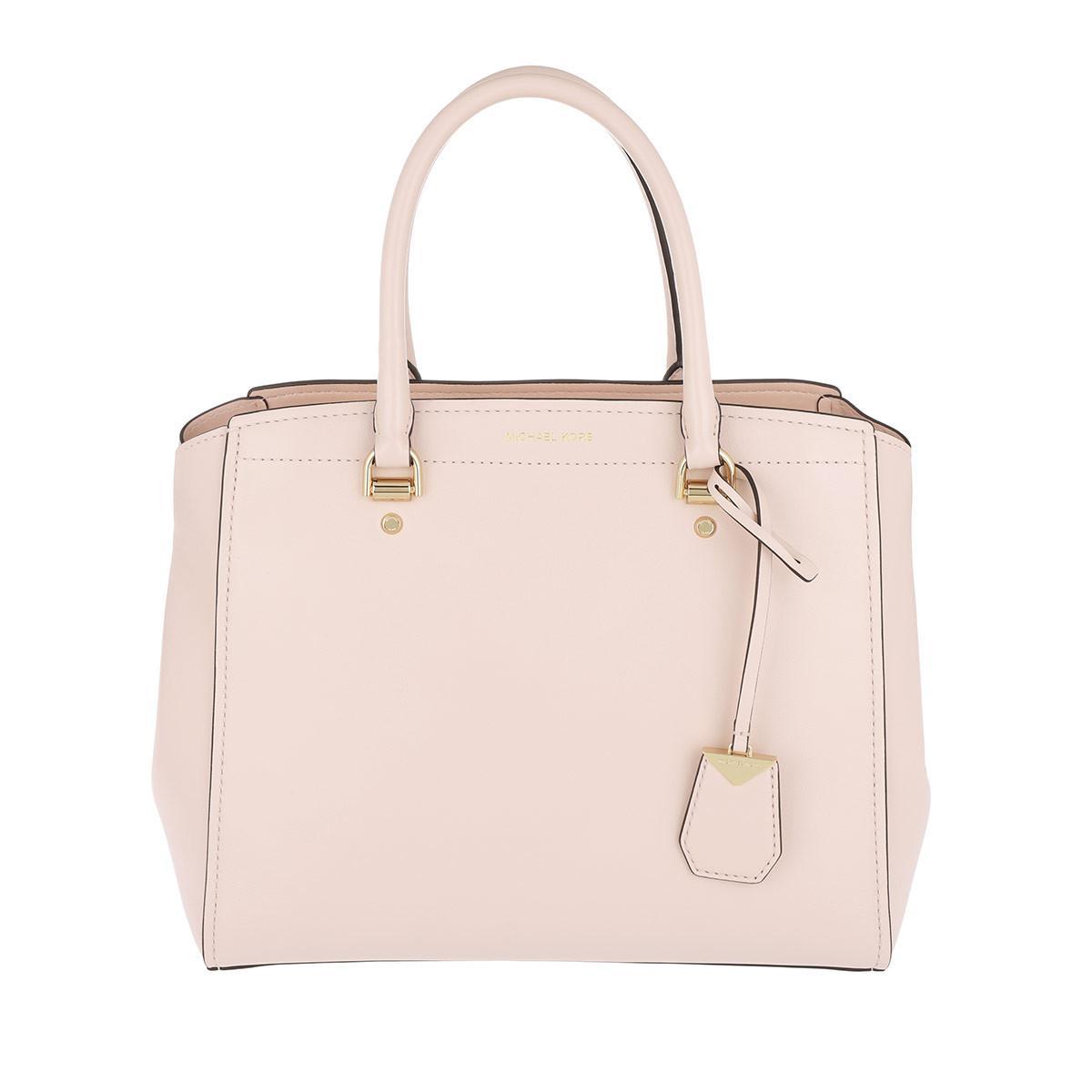 2e2b9dbb5a8b2 Michael Kors Benning Lg Satchel Bag Soft Pink in Pink - Lyst