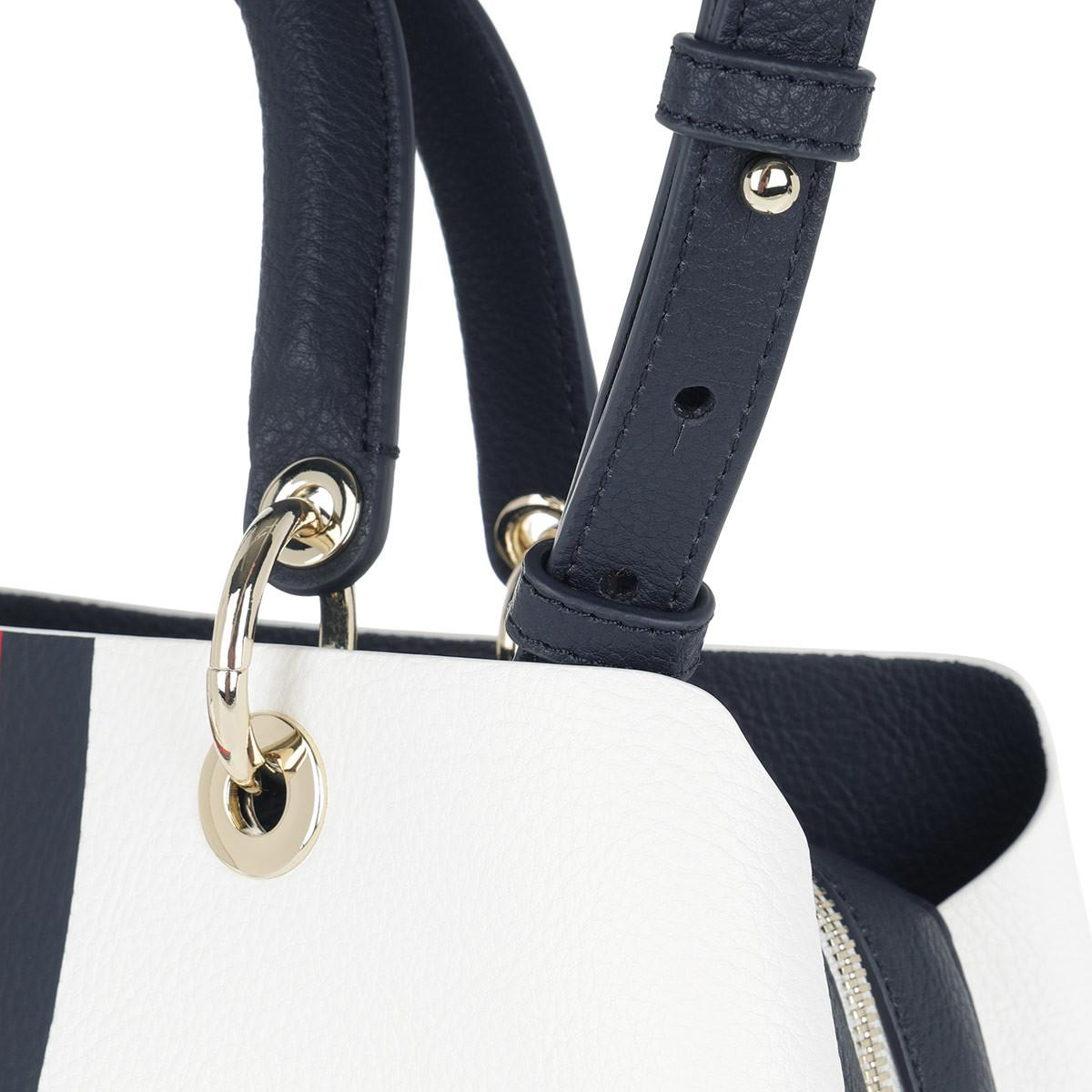 a857ab327f Tommy Hilfiger Th Core Satchel Bag Corporate Mix in White - Lyst