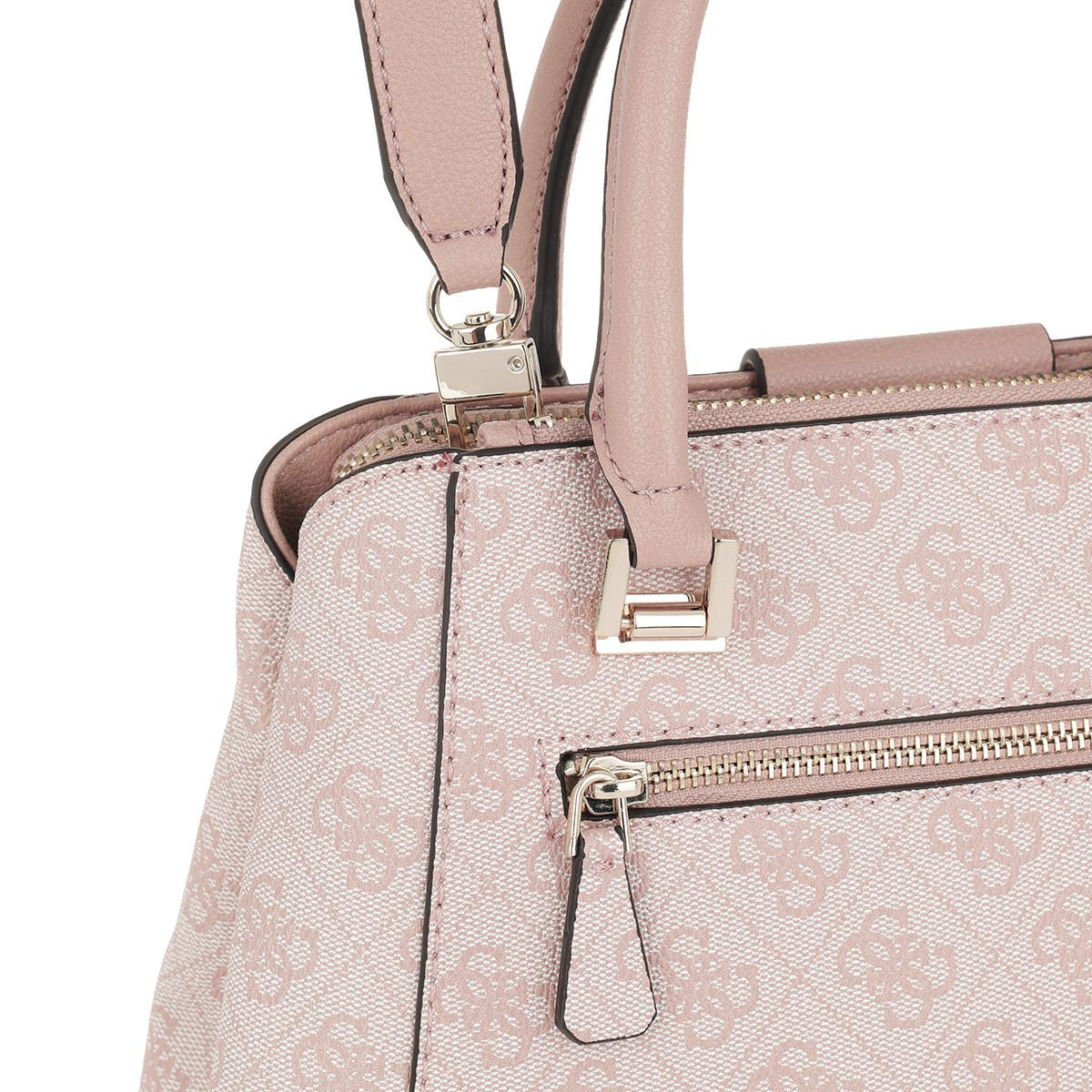 0250cca3cc Guess Logo Luxe Sml Society Satchel Bag Blush in Pink - Lyst