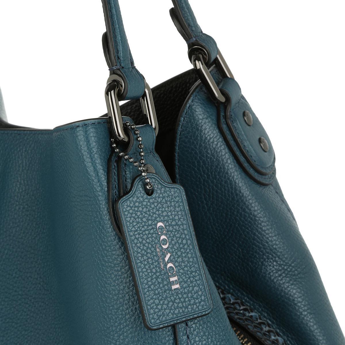 632fb1fc8bc34 COACH Colorblock Edie Shoulder Bag 31 Mixed Materials Dark Gunmetal ...