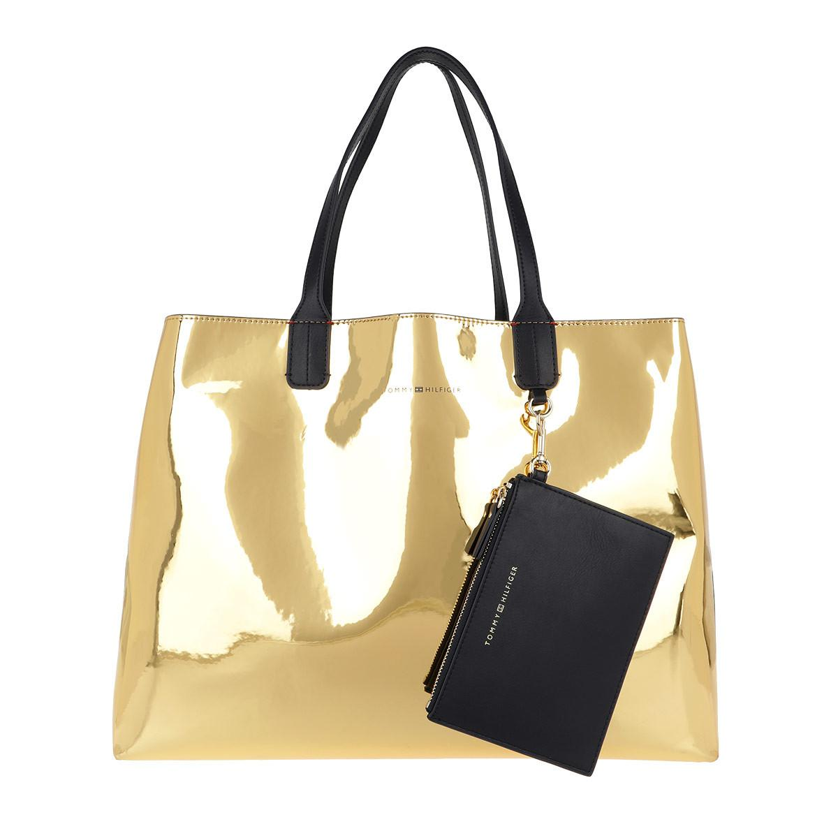 32908367 Tommy Hilfiger Iconic Tommy Tote Metallic Mirror Metallic in ...