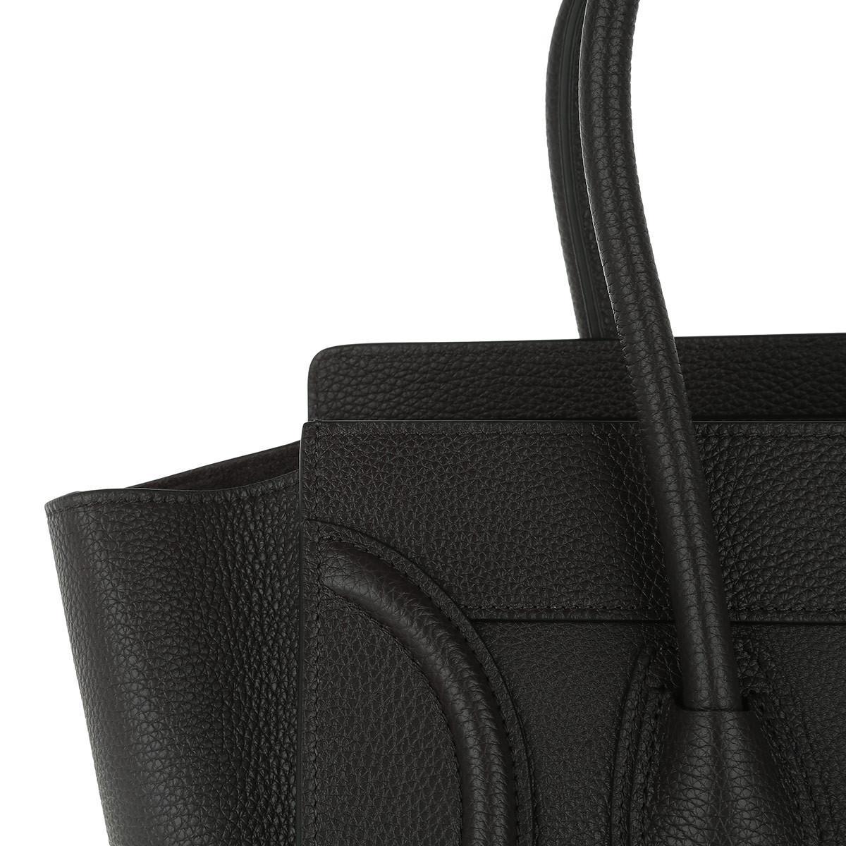 35bca547449 Céline Micro Luggage Calfskin Tote Liquorice in Black - Lyst
