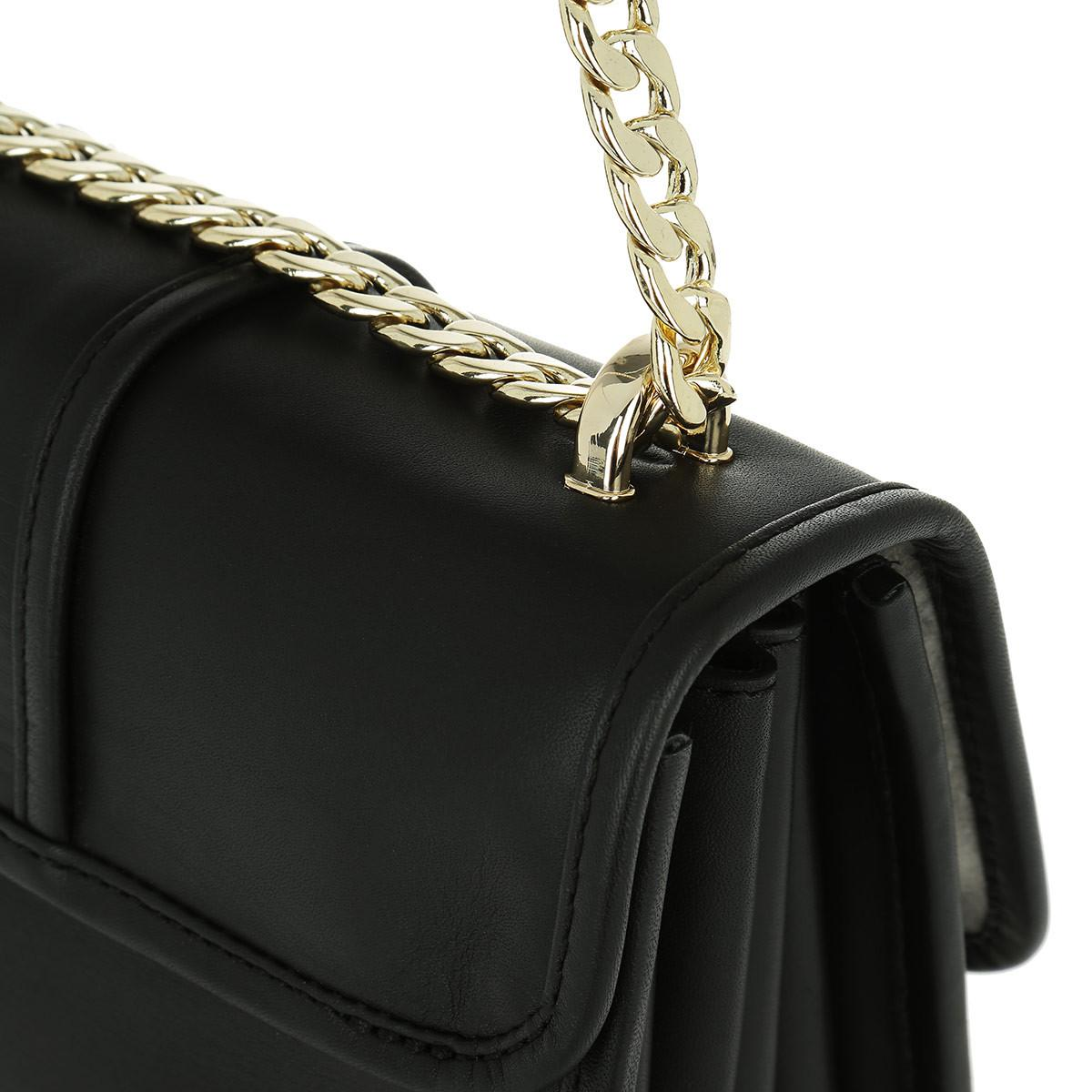 8656bab682fc Tommy Hilfiger Tommy Buckle Leather Crossover Black in Black - Lyst