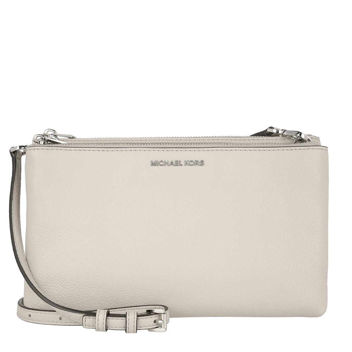 17edf0f0c6c5 Michael Kors Adele Double Zip Crossbody Leather Cement in Natural - Lyst