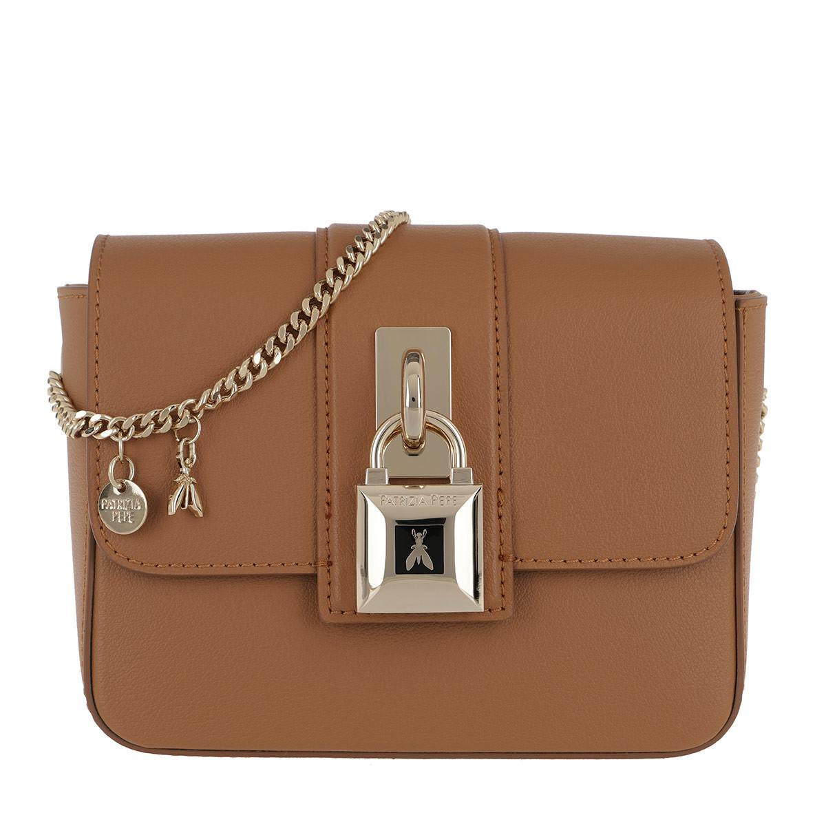 dc344c9bf698 Patrizia Pepe - Locked Crossbody Bag Natural Beige - Lyst. View fullscreen