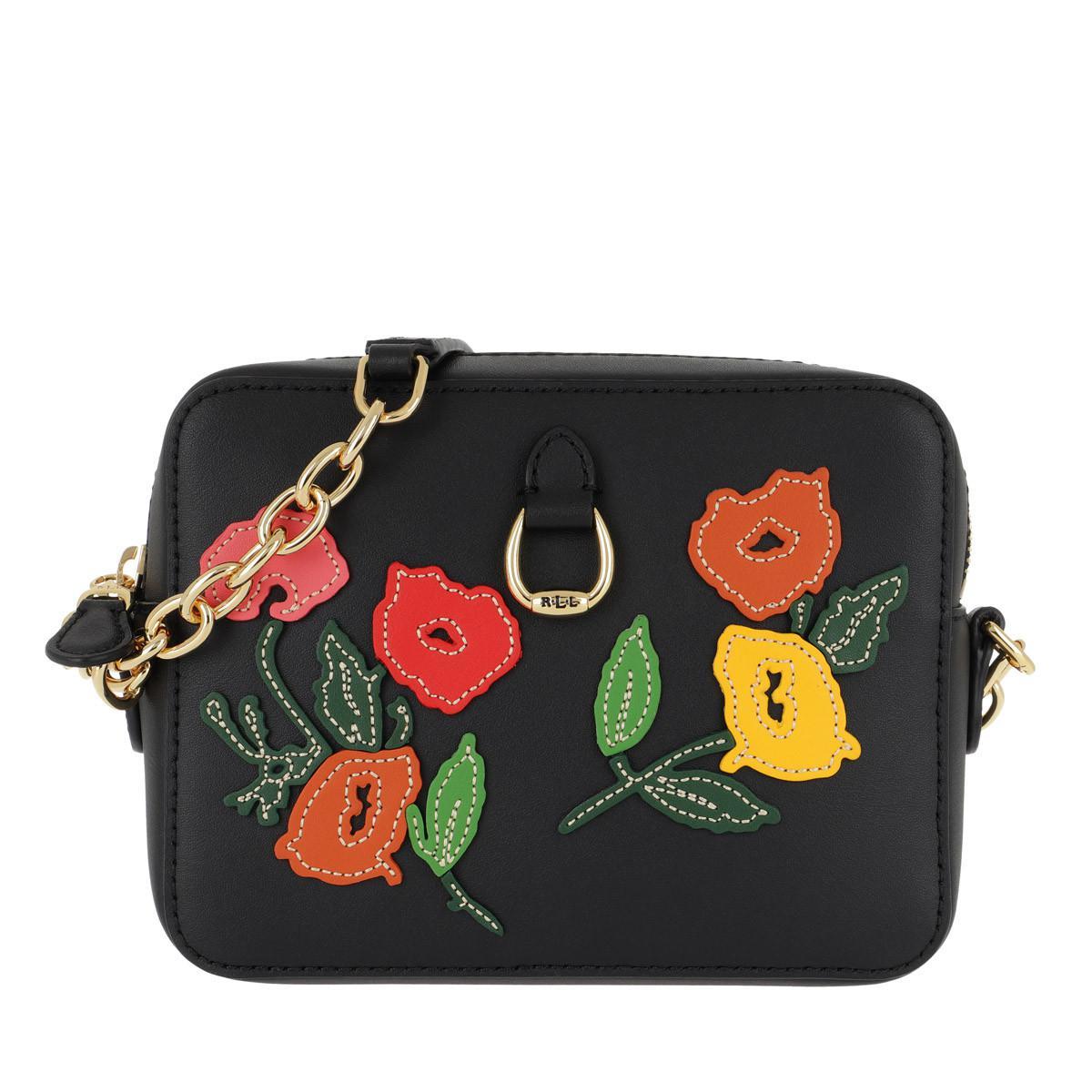 a07250f284 Lauren by Ralph Lauren Bennington Crossbody Bag Black multi Floral ...