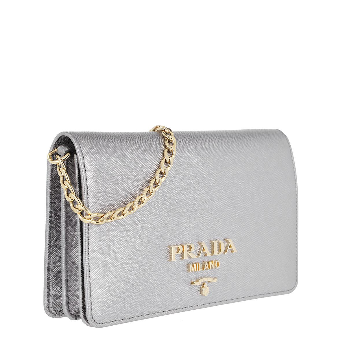 Discount Best Place Pay With Paypal Cross Body Bags - Portafoglio Con Catena F0XD9 - black - Cross Body Bags for ladies Prada Discount Authentic Hard Wearing USlOEsicXb