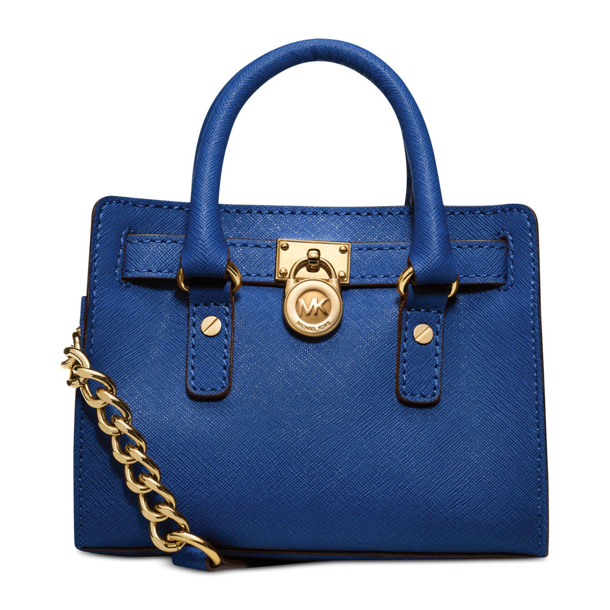 Michael Kors Michael Hamilton Mini Messenger Bag in Blue (SAPPHIRE)
