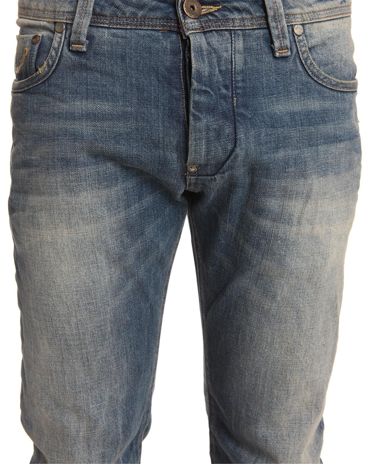 star raw attacc low straight dark blue jeans in blue for men lyst. Black Bedroom Furniture Sets. Home Design Ideas