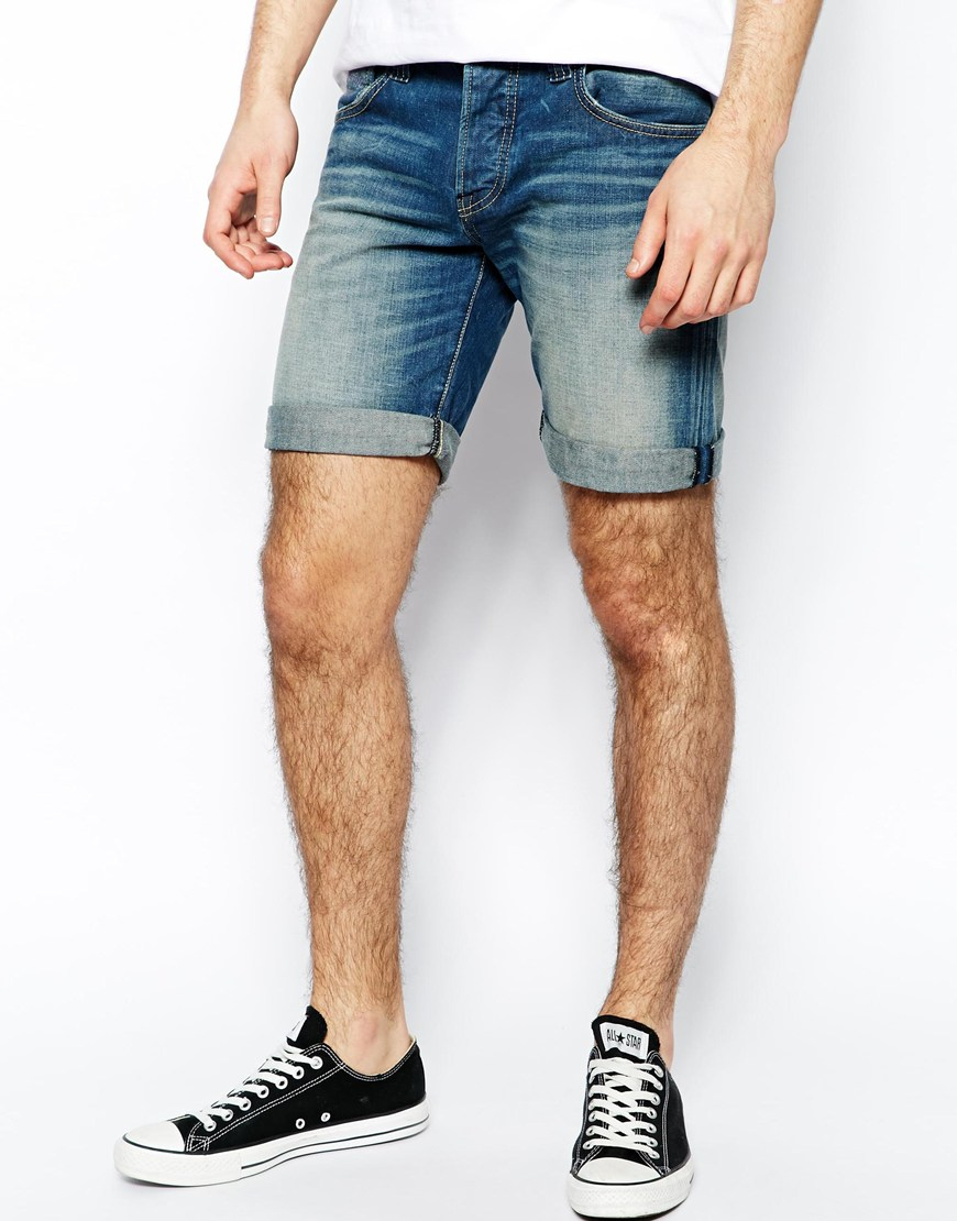 Pepe jeans Pepe Denim Shorts Cane Slim Fit Dirty Wash in Blue for ...