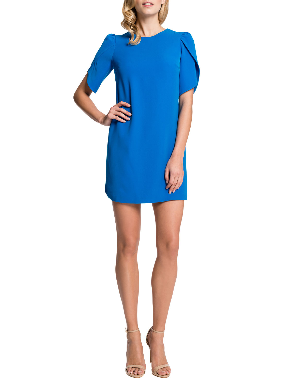 9ce32d547407 Lyst - Cynthia Steffe Tulip Sleeve Sunday Dress Cosmic Blue in Blue