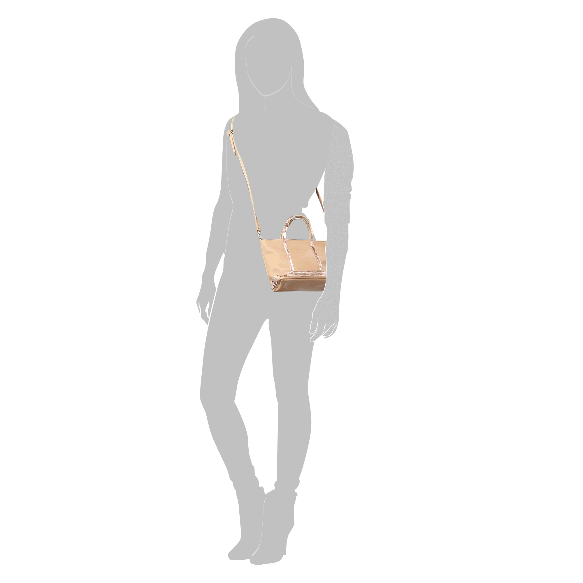 9cb653c961 Vanessa Bruno Sequins And Leather Baby Tote in Natural - Lyst