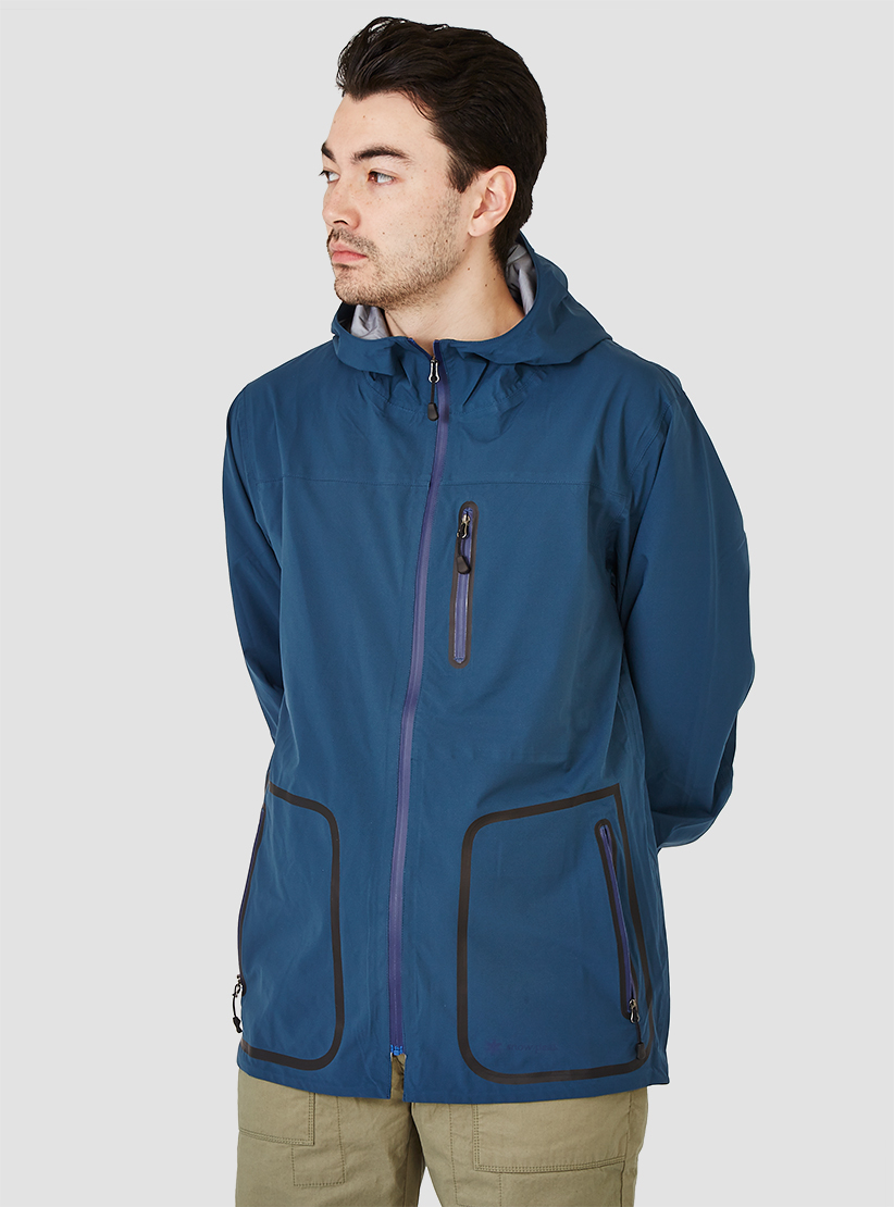 Snow peak Packable 3 Layer Rain Jacket Blue in Blue for Men | Lyst