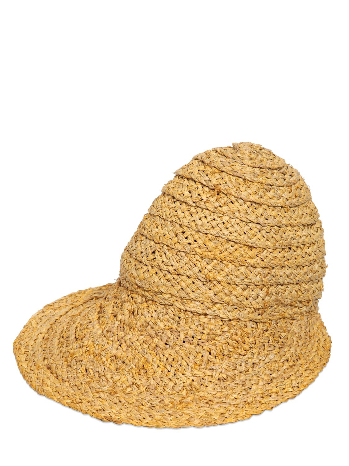 Lyst - Emilio Pucci Hand-Woven Straw Hat With Visor in Natural 0a6947e98ee4