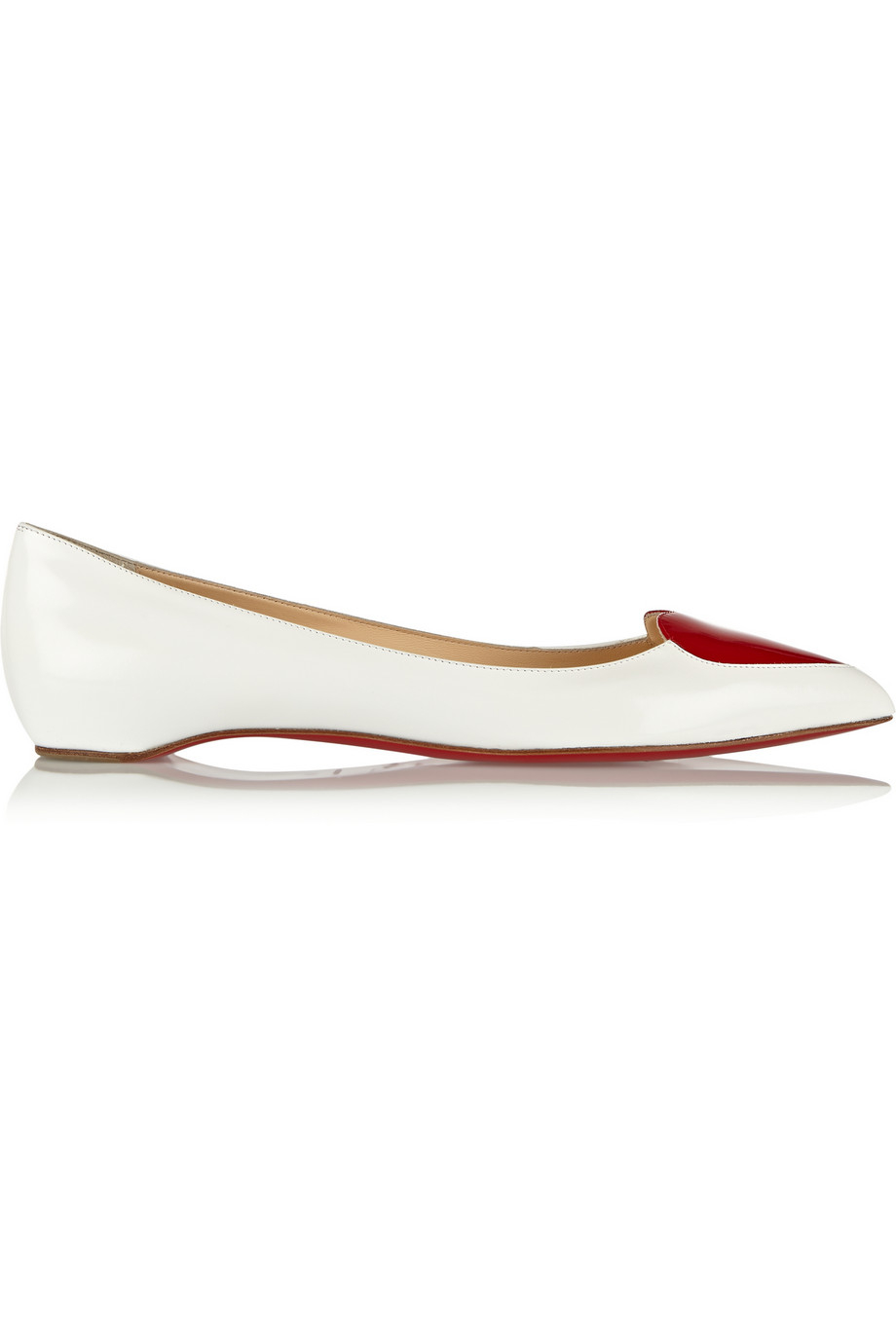 replica shoes louboutin - Christian louboutin Corafront Patent-Leather Point-Toe Flats in ...