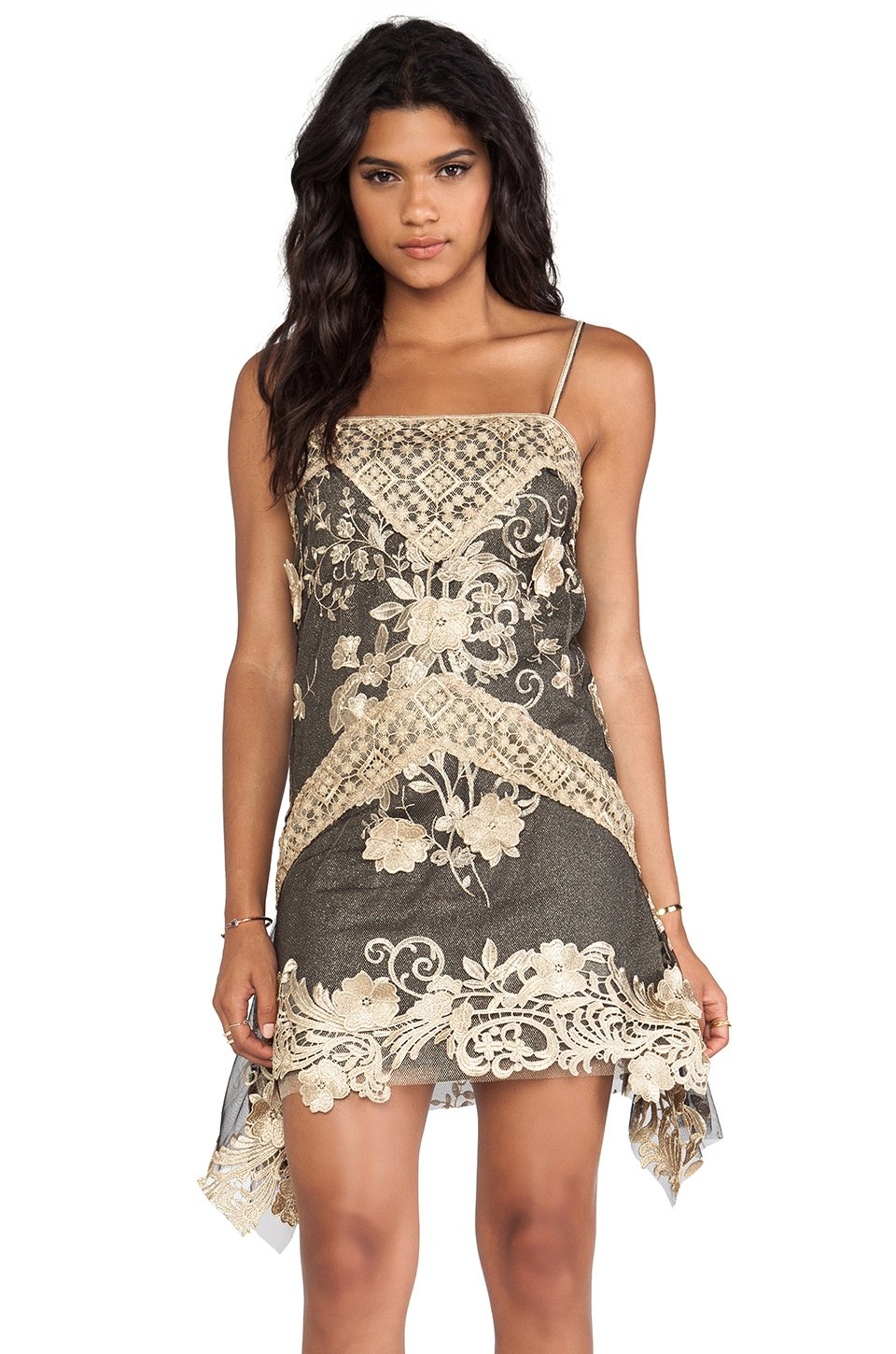 Anna Sui Fall Winter 2014 2015 New Women S Clothing Styles: Anna Sui Maiden Faire Lace Tank Dress In Black