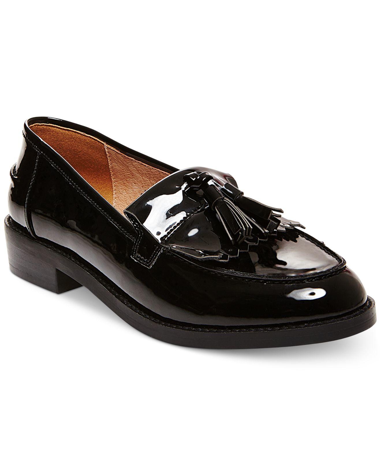 09c9d543023 Lyst - Steve Madden Women s Meela Lug Tassel Loafer in Black
