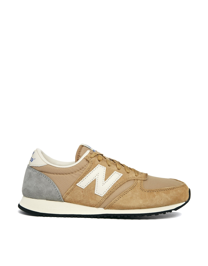 lyst new balance camel 420 trainers in natural. Black Bedroom Furniture Sets. Home Design Ideas