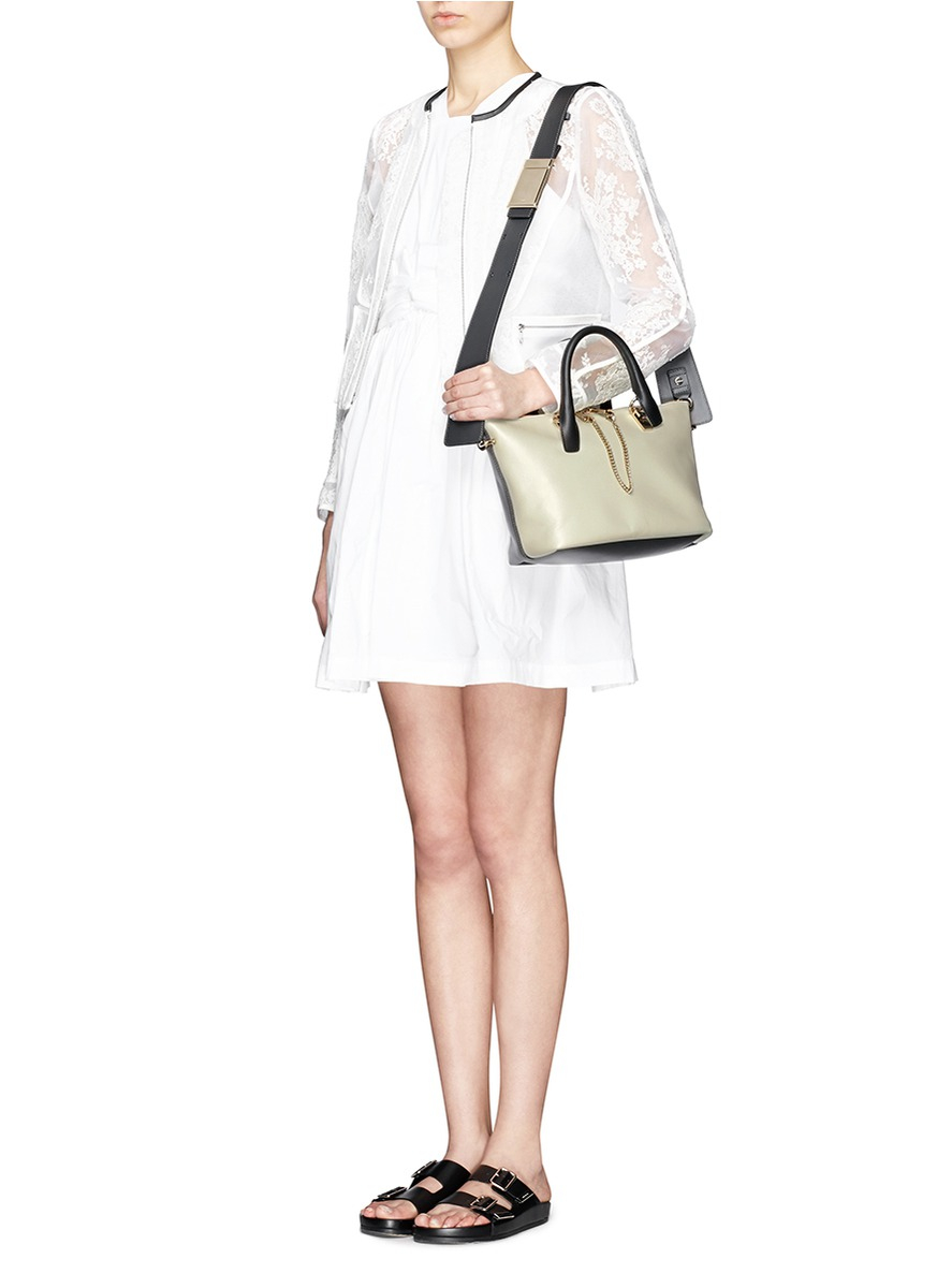 Chlo¨¦ \u0026#39;Baylee\u0026#39; Small Leather Tote in Gray (Grey,Multi-colour) | Lyst