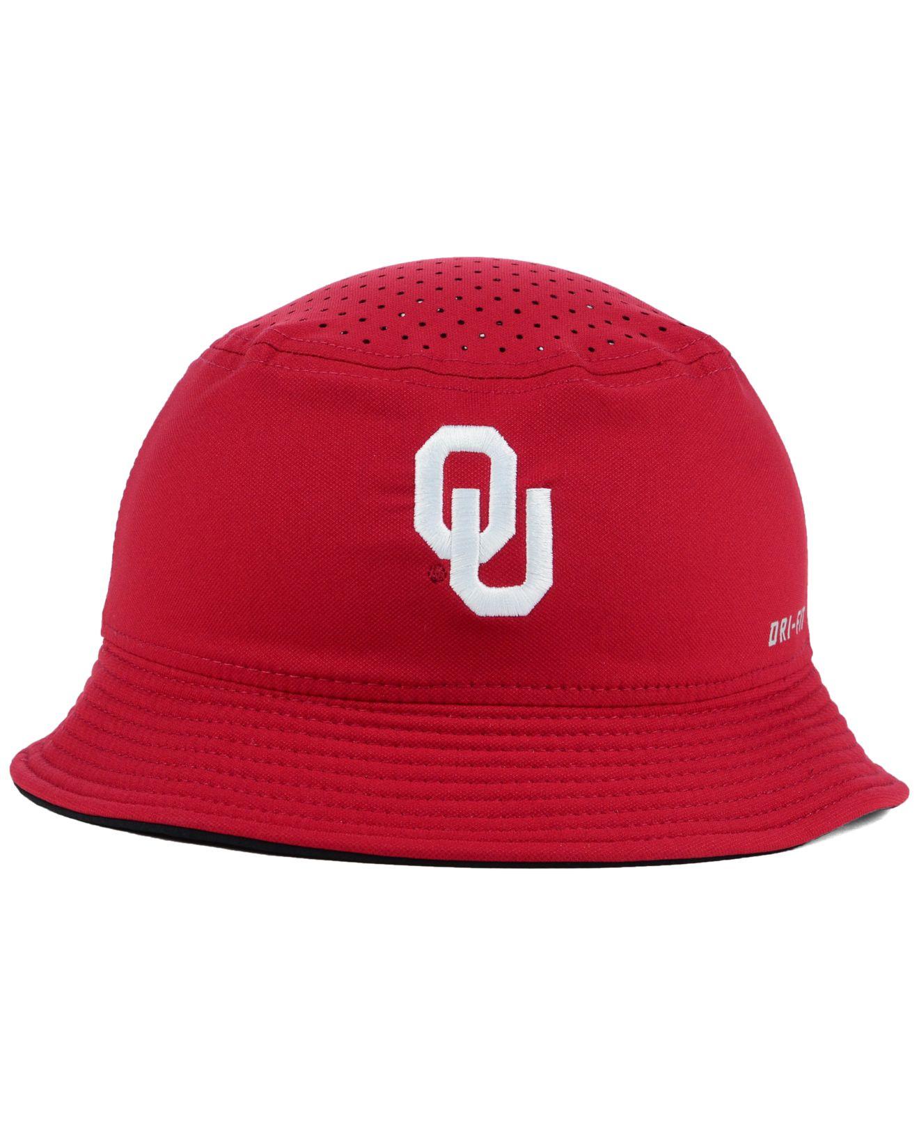 e7b231567fb Lyst - Nike Oklahoma Sooners Vapor Bucket Hat in Purple for Men