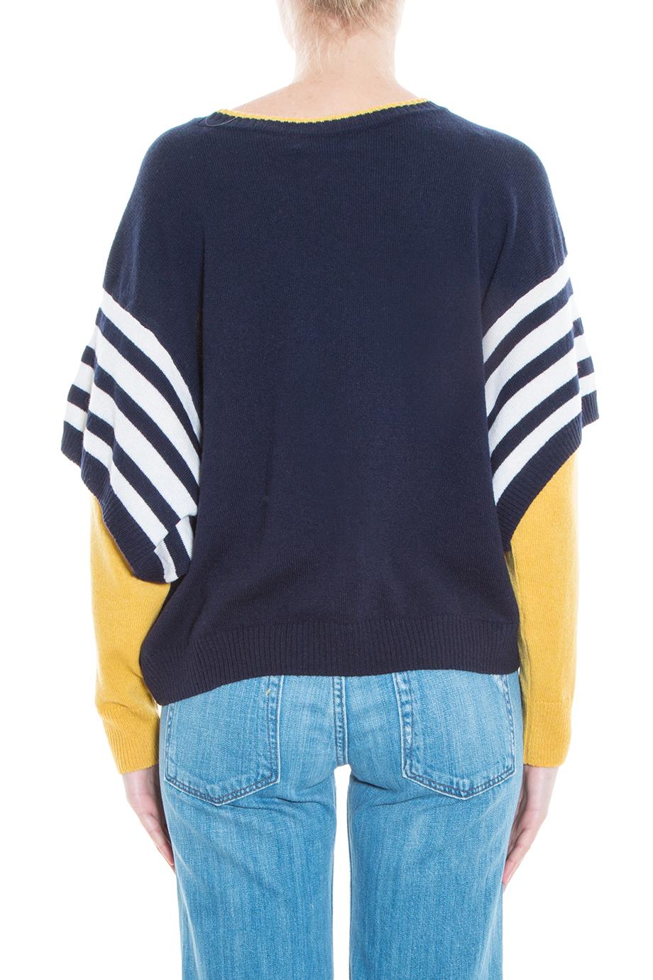 Preen by thornton bregazzi Striped Sweater in Yellow | Lyst