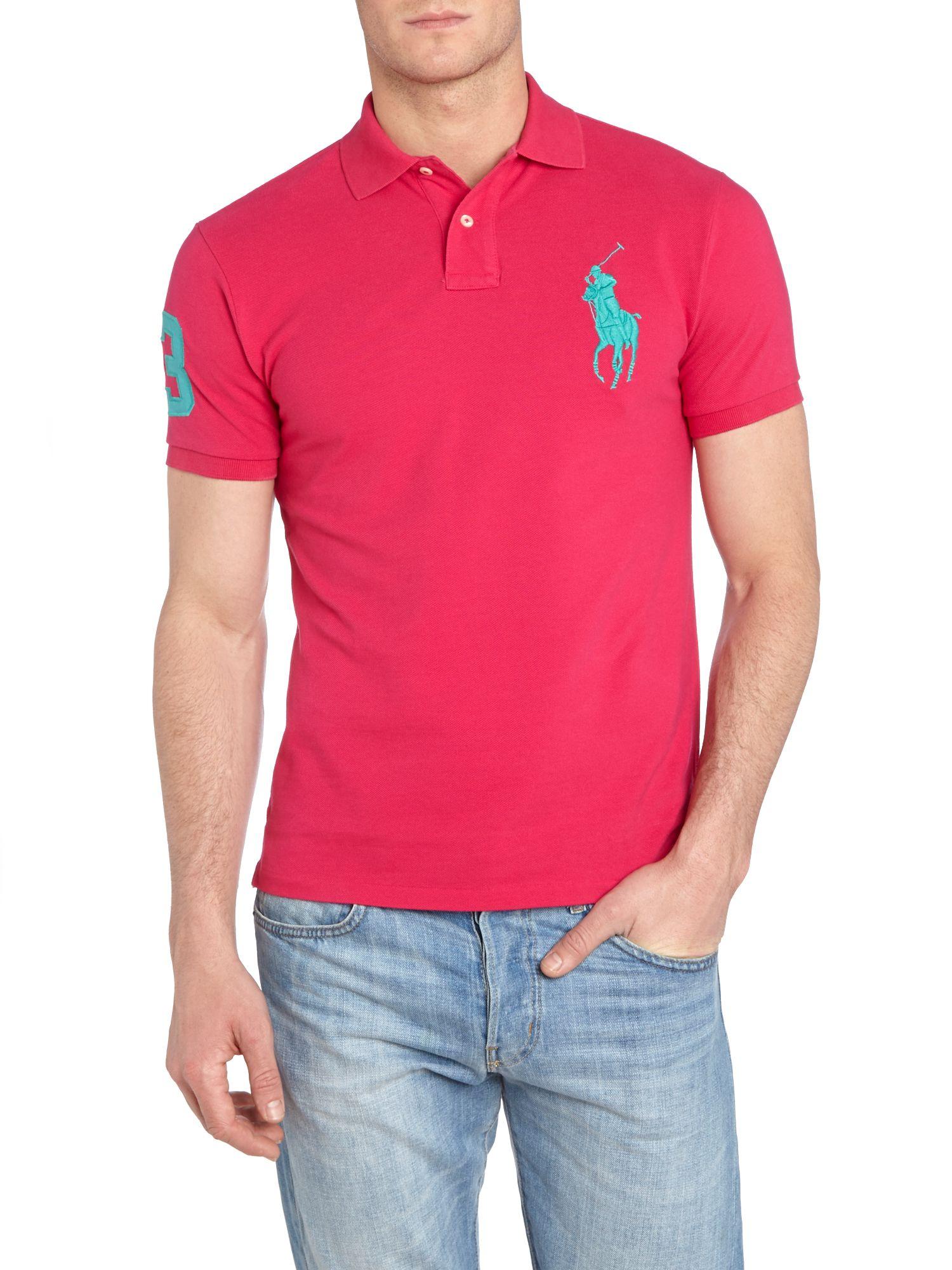 Ralph Lauren Soft Mesh Men Sweaters Pink