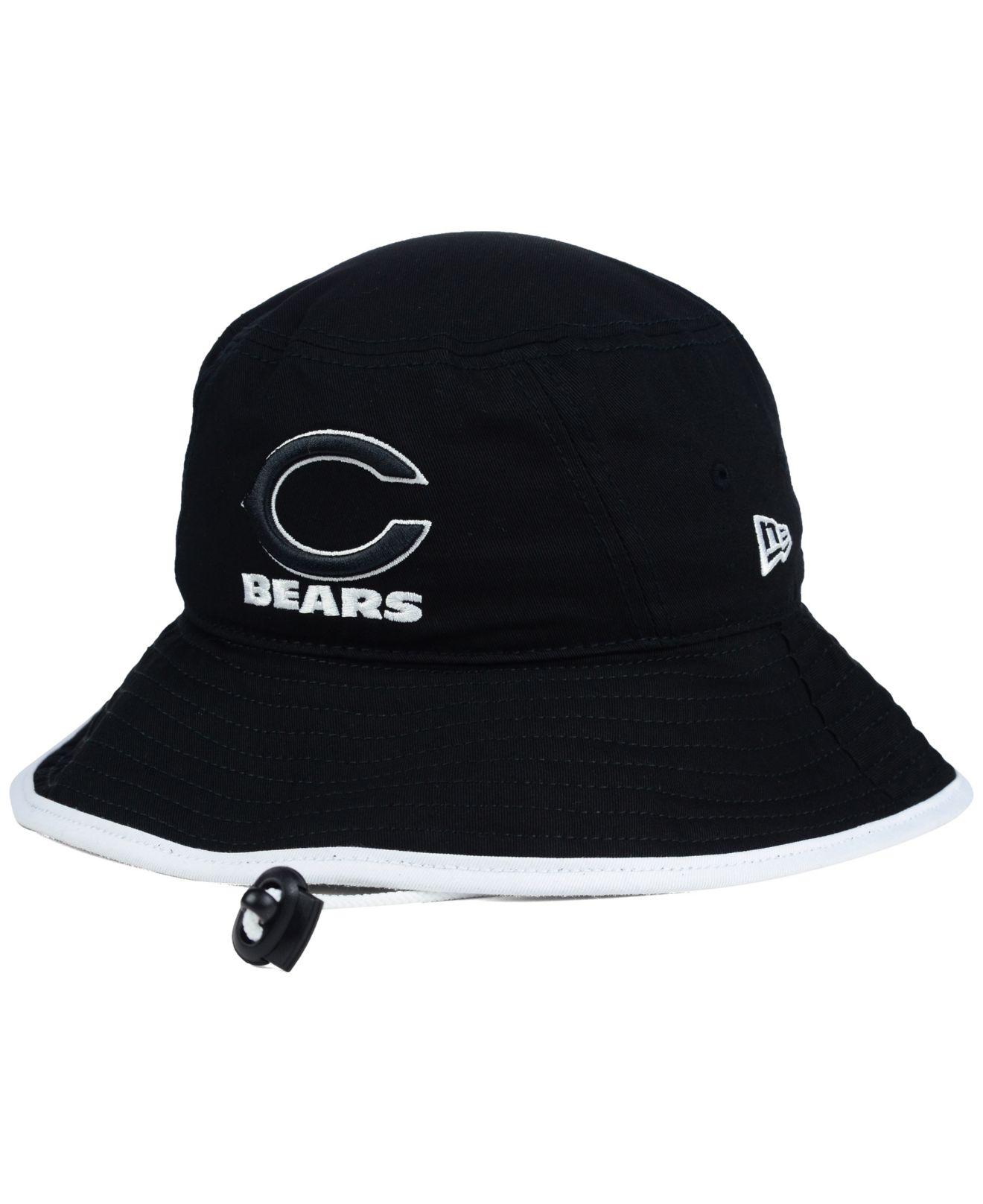Lyst - KTZ Chicago Bears Nfl Black White Bucket Hat in Black a6909f85b