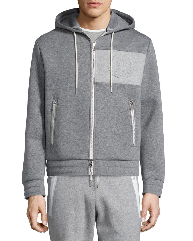 moncler mens grey hoodie