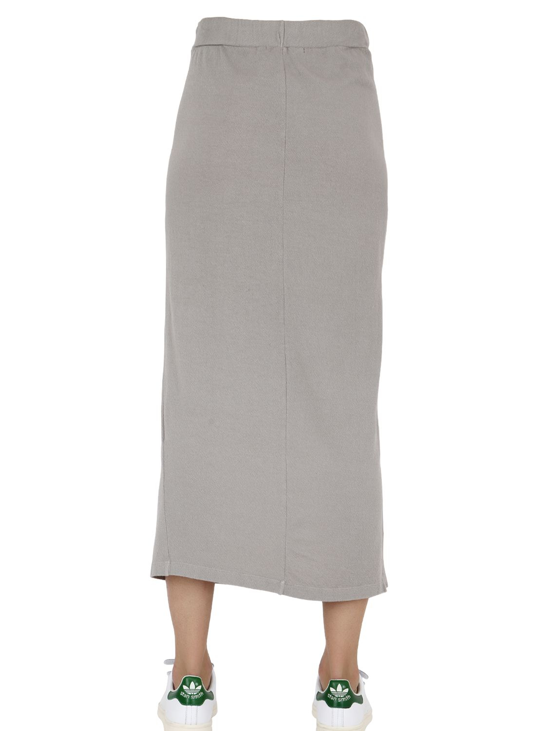 Transit Cotton Blend Jersey Maxi Skirt in Gray | Lyst