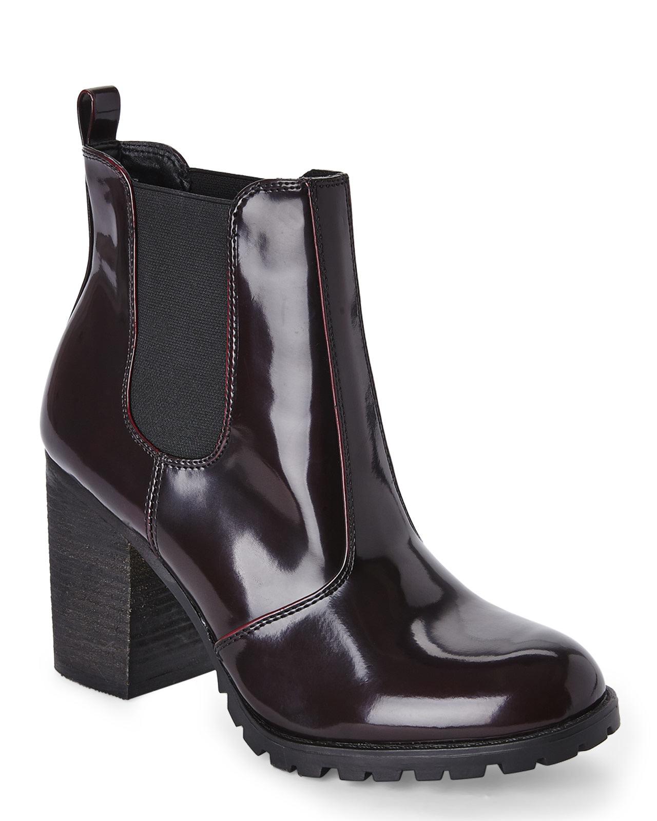 Madden Girl Womens Burgundy Boots Anarchhy