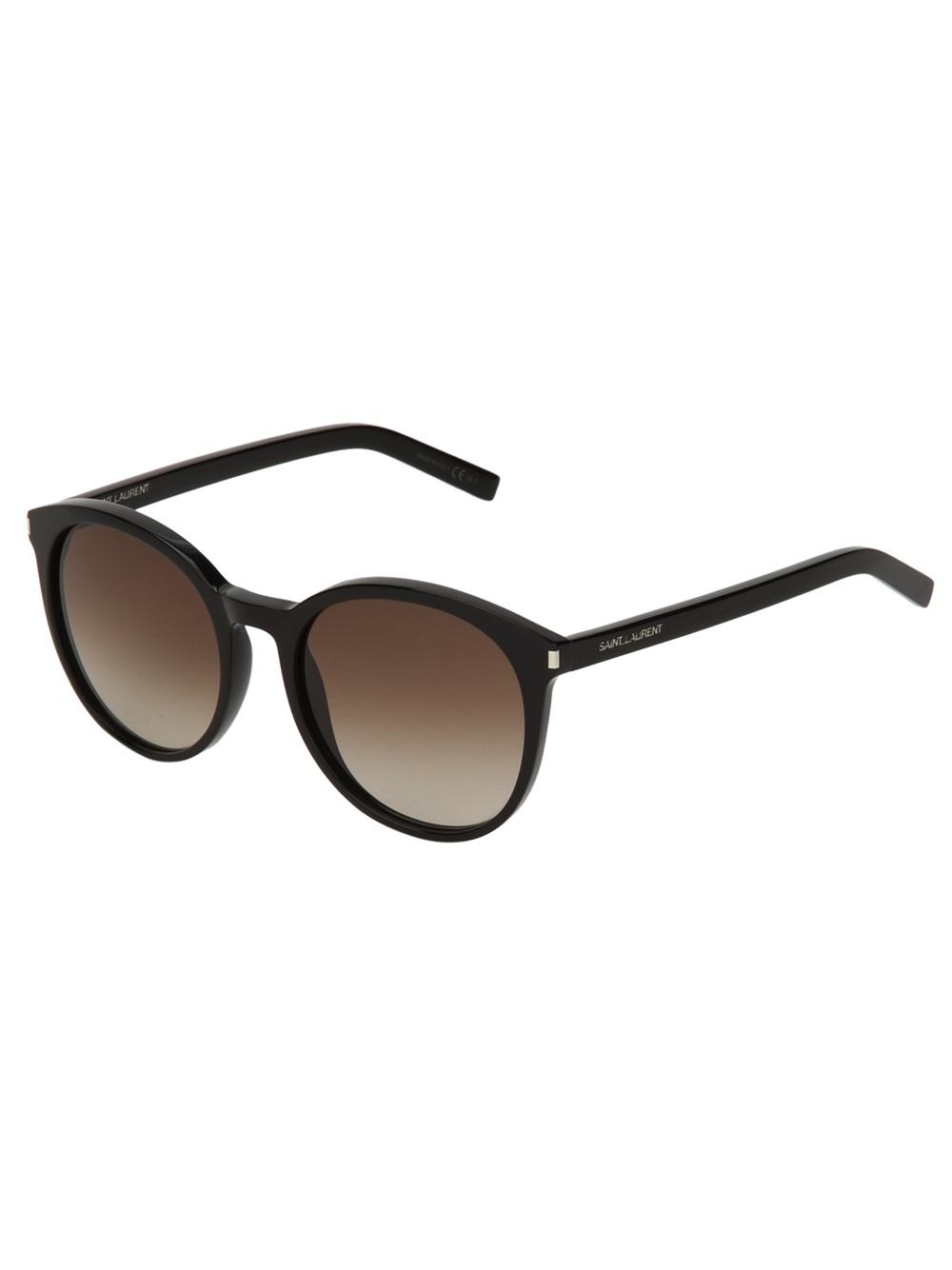 1bb0b2013bcc Saint Laurent Oversize Round Frame Sunglasses in Black - Lyst
