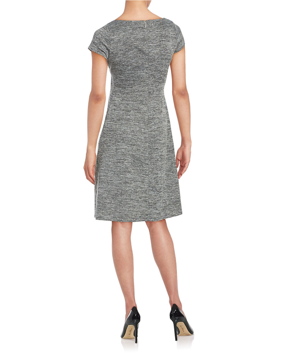 Ivanka trump Textured A-line Dress in Gray | Lyst