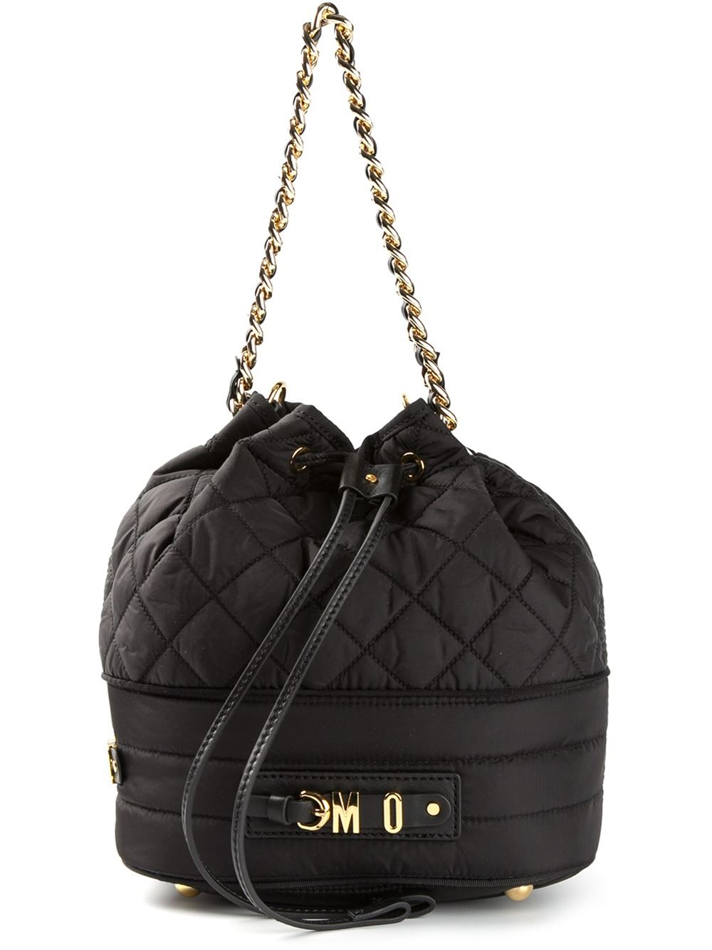Lyst Moschino Quilted Duffle Bag In Black