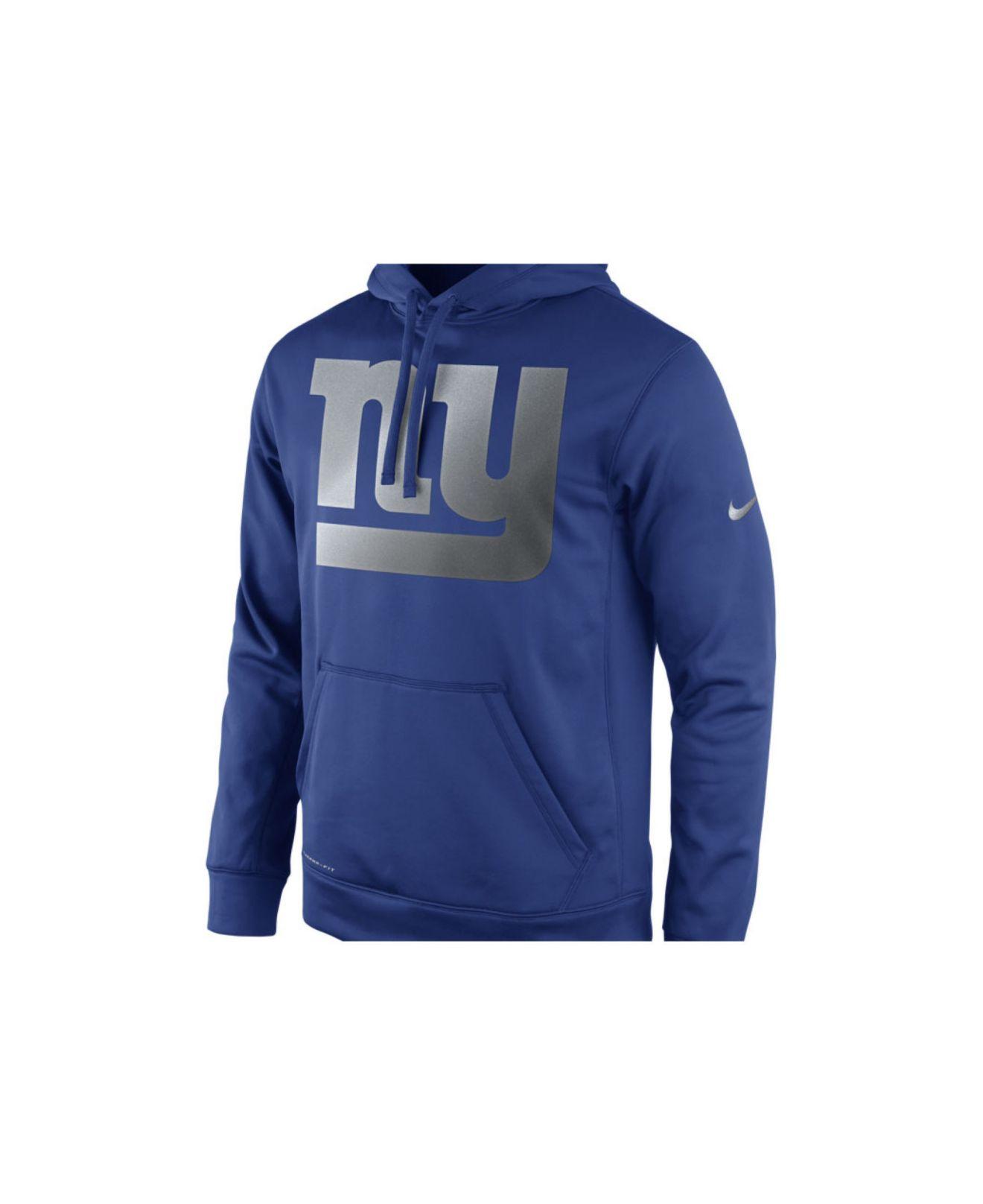 Mens Nike New York Giants Ko Full Zip Hooded Sweatshirt ...