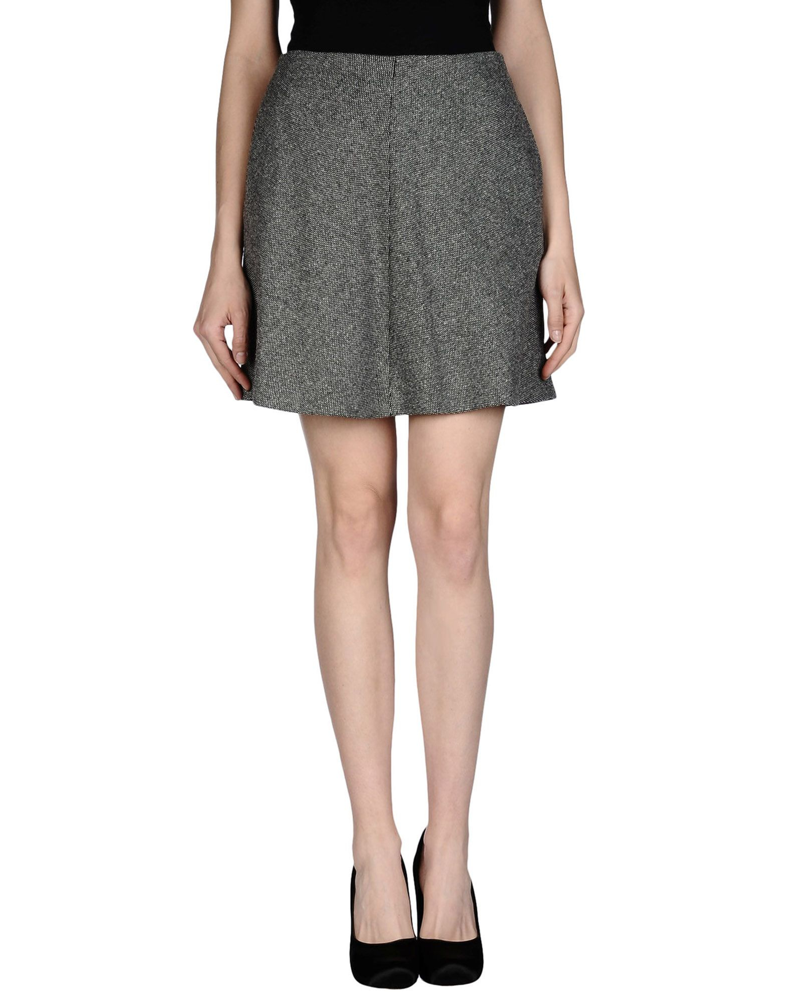 19 63 knee length skirt in gray grey save 62 lyst