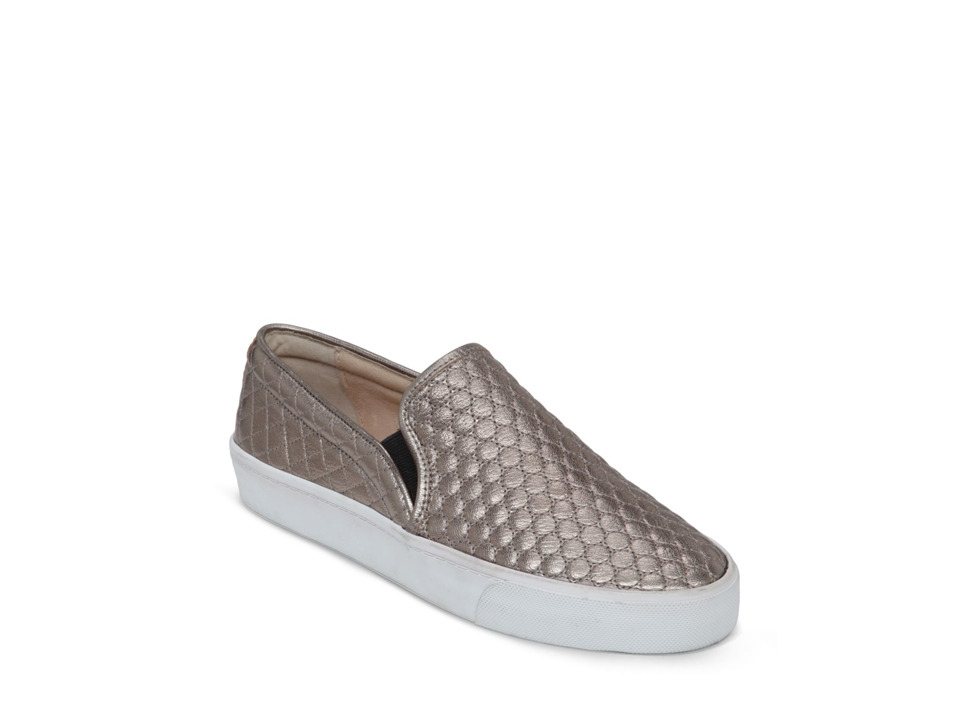 97e95161320547 Lyst - Vince Camuto Slip On Sneakers - Banner Metallic Quilted in ...
