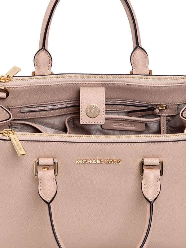 014da8ecea ... wholesale michael michael kors medium sutton saffiano leather bag in  pink lyst e519a 4180c