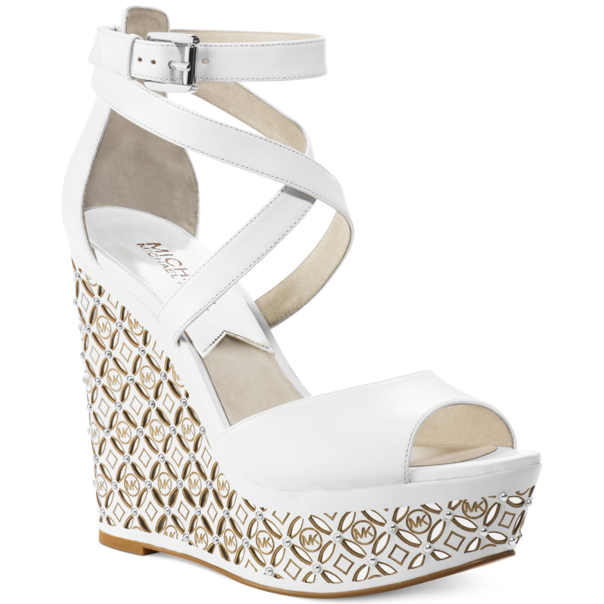 e2166e005de Gallery. Previously sold at  Macy s · Women s White Platform Wedges ...