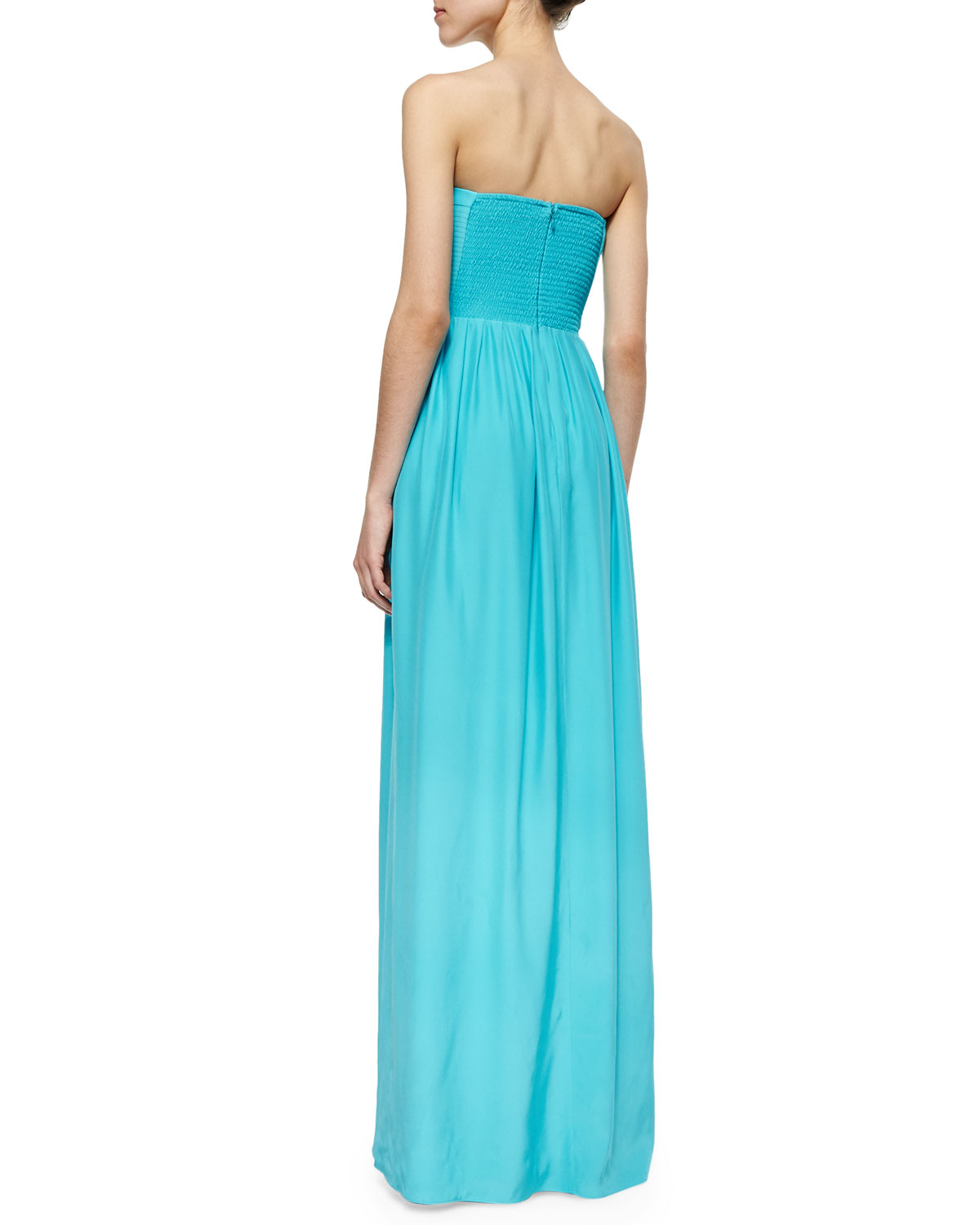 Parker Venice Strapless Maxi Dress in Blue | Lyst