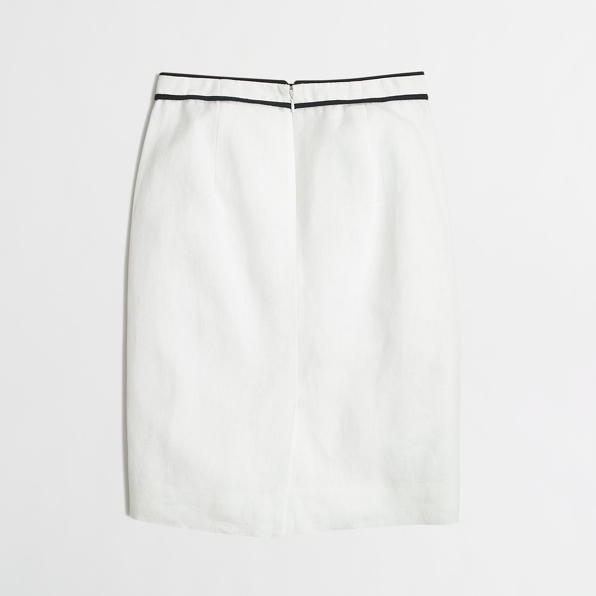 j crew factory linen pencil skirt in white lyst